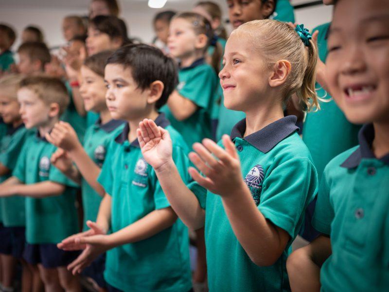 Flinders Primary students enjoy choir lessons