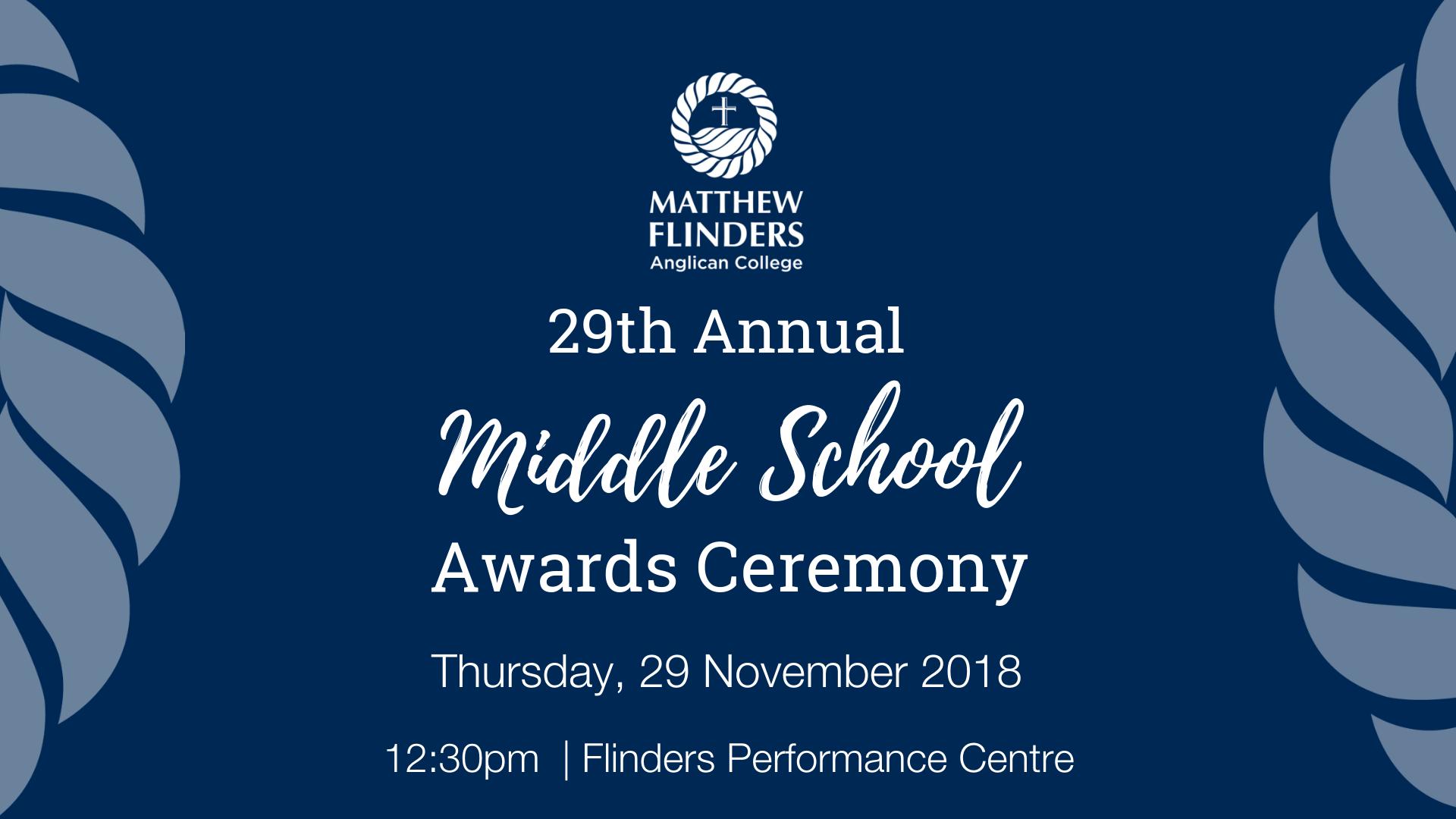 MFAC Middle School Awards