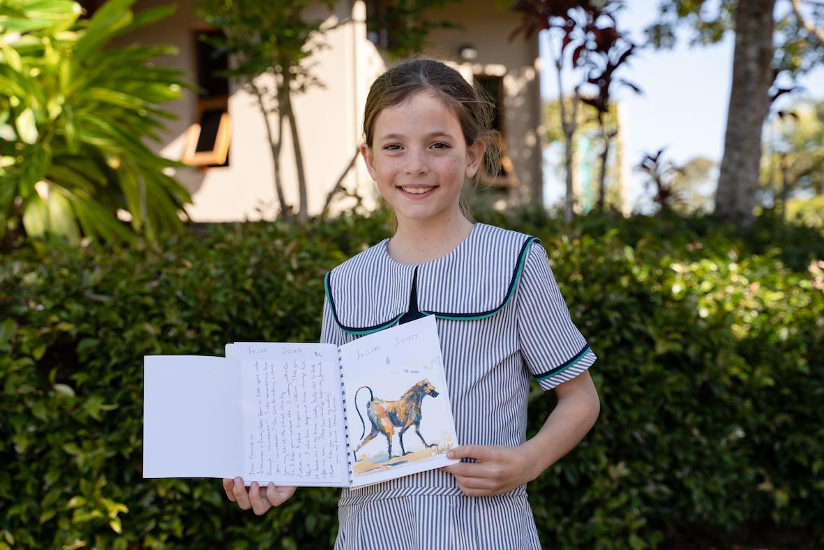 Hannah in Year 3 Flinders Pen Pal Club
