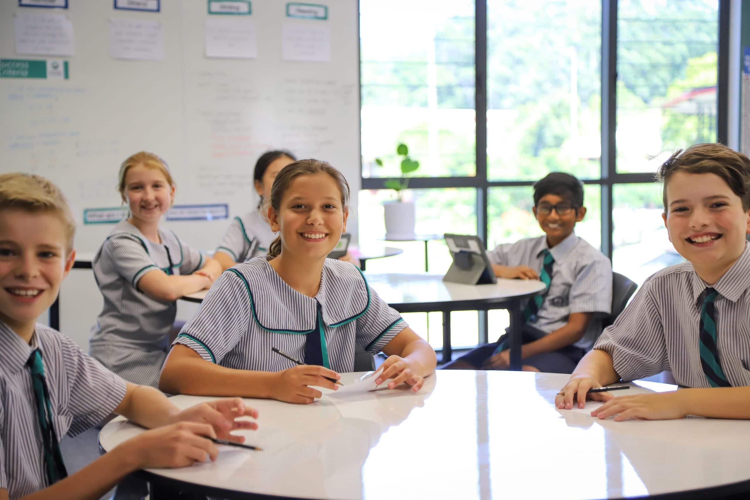 Flinders Year 6 students in new building IMG_8959