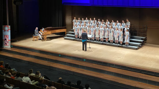 Flinders choralists at Qld Youth Music Awards 2021