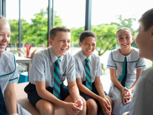 Flinders Middle School students gather